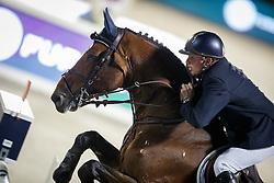 Kermond Jamie, (AUS), Quite Cassini, FEI President<br /> Logines Challenge Cup<br /> Furusiyya FEI Nations Cup Jumping Final - Barcelona 2015<br /> © Dirk Caremans<br /> 25/09/15