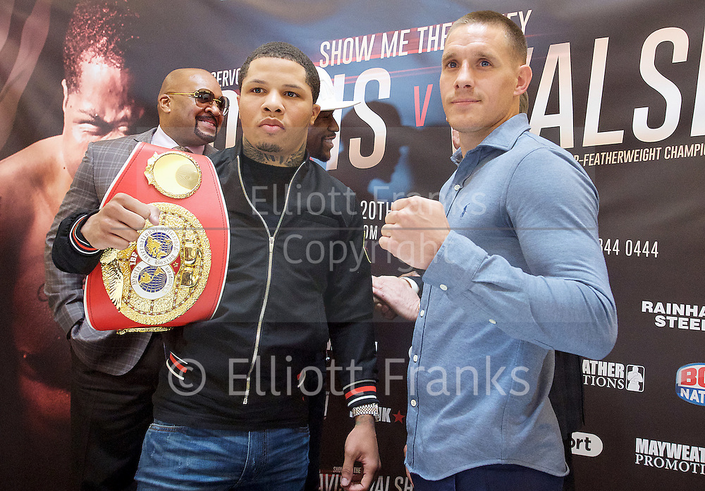 Floyd Mayweather Jr &amp; Frank Warren press conference at The Savoy Hotel, London, Great Britain <br /> 7th March 2017 <br /> <br /> <br /> <br /> <br /> Gervonta Davis <br /> (an American professional boxer who has held the IBF junior lightweight title since January 2017)<br /> <br /> 