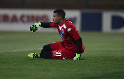 Ronwen Williams G/K of SuperSport United during the 2016 Premier Soccer League match between Supersport United and The Free Stat Stars held at the King Zwelithini Stadium in Durban, South Africa on the 24th September 2016<br /> <br /> Photo by:   Steve Haag / Real Time Images