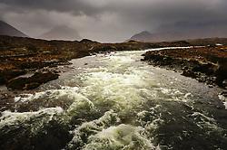 The River Sligachan in flood during torrential rain, Isle of Skye, Scotland<br /> <br /> (c) Andrew Wilson | Edinburgh Elite media
