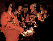 Georges de La Tour (1593 –  1652) French painter.  Adoration of the Bergers (Magi)