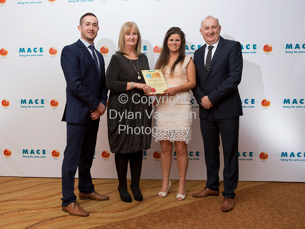 Pictured at the MACE Excellence Awards held in Lyrath Estate Hotel, Kilkenny were; Philip O'Brien, MACE Retail Operations Advisor; Carol and Elaine Mulcair, MACE Kildimo, Limerick with Pat Reddan, MACE Retail Operations Advisor.