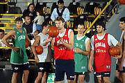 BORMIO LUGLIO 2004<br /> RITIRO PREOLIMPICO NAZIONALE ITALIANA BASKET NELLA FOTO GIACOMO GALANDA<br /> FOTO CIAMILLO-CASTORIA