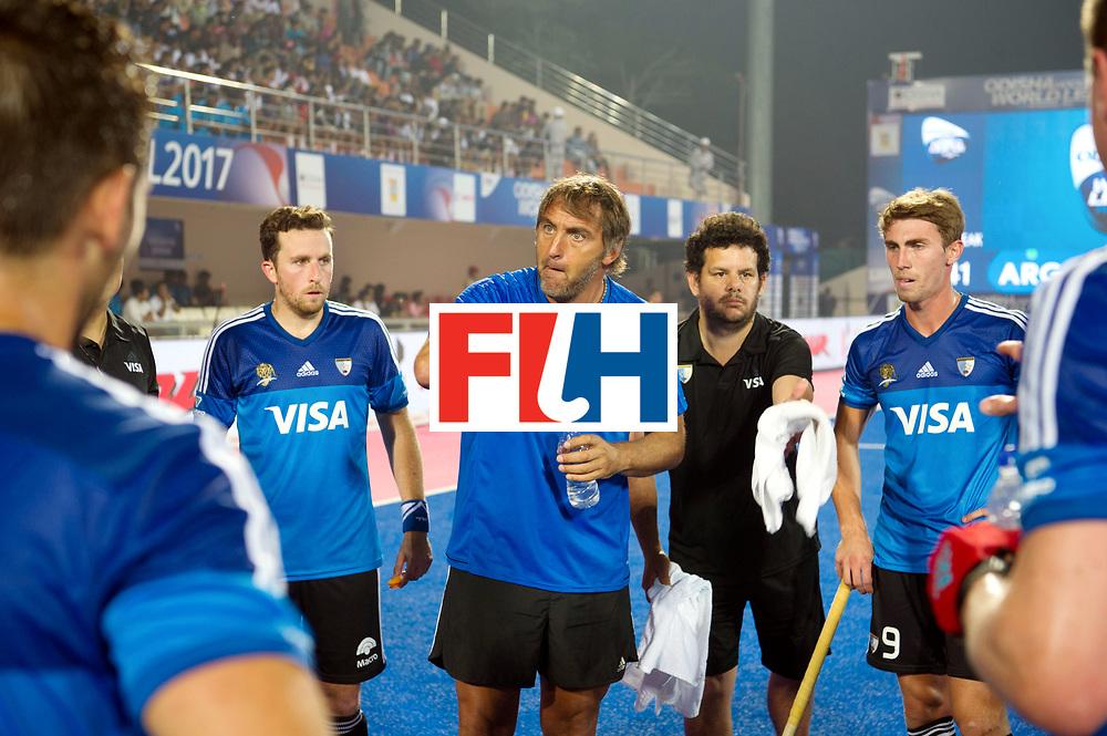 Odisha Men's Hockey World League Final Bhubaneswar 2017<br /> Match id:11<br /> Argentina v Spain<br /> Foto: kcoach Carlos Retegui (Arg) <br /> COPYRIGHT WORLDSPORTPICS FRANK UIJLENBROEK