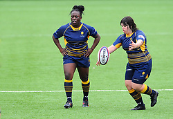Maddy Escott of Worcester Valkyries kicks the ball out for a lineout  - Mandatory by-line: Nizaam Jones/JMP - 22/09/2018 - RUGBY - Sixways Stadium - Worcester, England - Worcester Valkyries v Richmond Women - Tyrrells Premier 15s