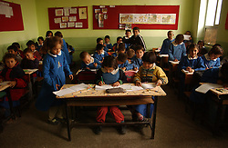 Ali Ipak's children attend the local school December 13, 2005 in central Turkey, Konya in Kutoren district, about 400 kilometers from Ankara. The projects are meant to improve rural poor families livelihoods. (Ami Vitale)