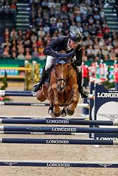 KUEHNER Max (AUT), Vancouver Dreams<br /> Leipzig - Partner Pferd 2020<br /> Longines FEI Jumping World Cup™ presented by Sparkasse<br /> Sparkassen Cup - Großer Preis von Leipzig FEI Jumping World Cup™ Wertungsprüfung <br /> Springprüfung mit Stechen, international<br /> Höhe: 1.55 m<br /> 19. Januar 2020<br /> © www.sportfotos-lafrentz.de/Stefan Lafrentz
