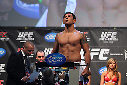 Toronto, Ontario, Canada - December 09, 2011: Antonio Rodrigo Nogueira weighs in for his bout against Frank Mir at UFC 140 at the Air Canada Centre in Toronto, Canada.