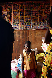Football posters on the wall in a grocery shop in Nwog Ebanda, Yaounde, Cameroon. Yaounde, Cameroon.