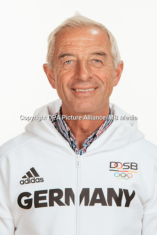 Hans Melzer poses at a photocall during the preparations for the Olympic Games in Rio at the Emmich Cambrai Barracks in Hanover, Germany, taken on 18/07/16 | usage worldwide