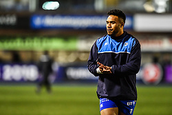 Willis Halaholo of Cardiff Blues during the pre match warm up - Mandatory by-line: Craig Thomas/JMP - 14/01/2018 - RUGBY - BT Sport Cardiff Arms Park - Cardiff, Wales - Cardiff Blues v Toulouse - European Rugby Challenge Cup