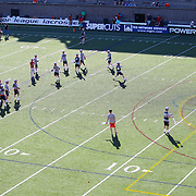 Members of the Boston Cannons warm up prior to the game at Harvard Stadium on May 17, 2014 in Boston, Massachuttes. (Photo by Elan Kawesch)
