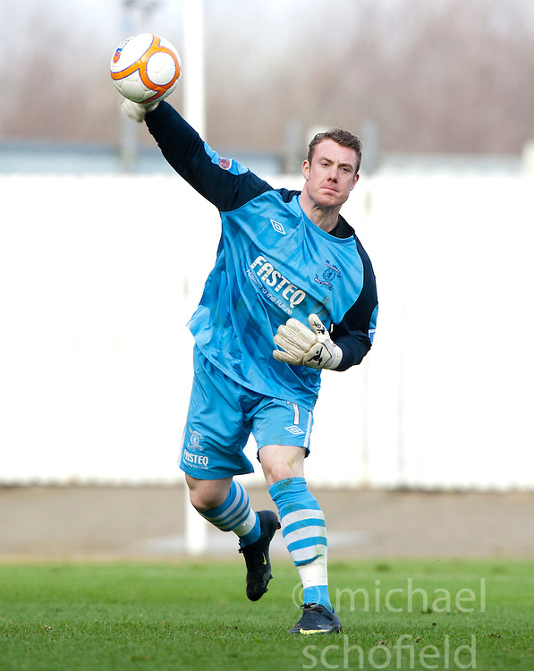 Livington's Andrew MCNeil..Falkirk 2 v 5 Livingston, 24/3/2012. .©Michael Schofield.