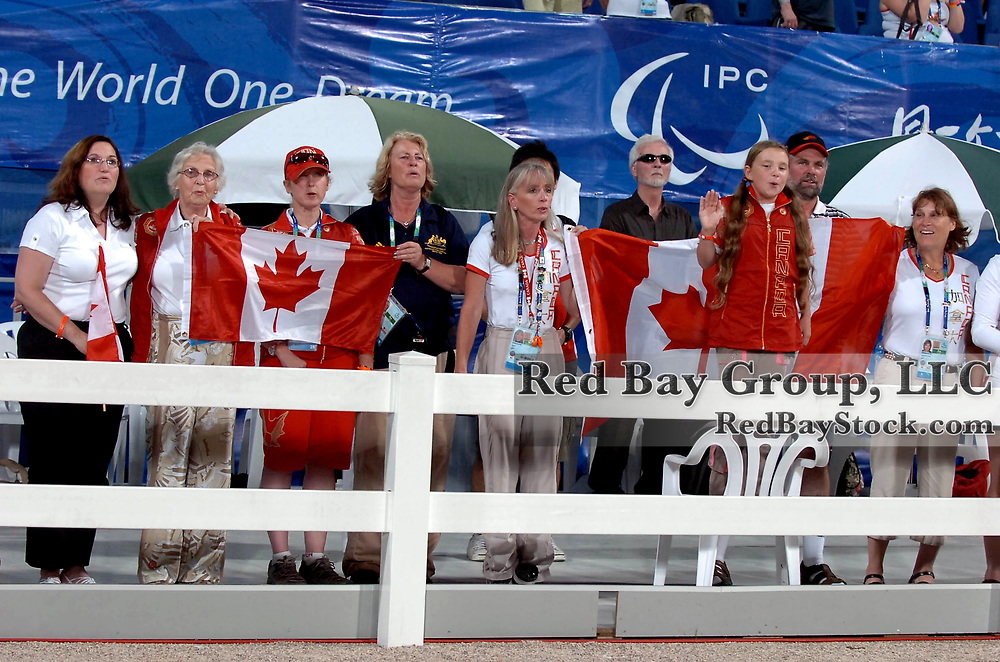 Canadian supporters at the Hong Kong Venue of the 2008 Paralympic Games