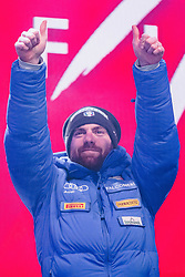 11.02.2019, Aare, SWE, FIS Weltmeisterschaften Ski Alpin, alpine Kombination, Herren, Siegerehrung, im Bild Riccardo Tonetti (ITA) // Riccardo Tonetti of Italy during the winner ceremony of the men's alpine combination for the FIS Ski World Championships 2019. Aare, Sweden on 2019/02/11. EXPA Pictures © 2019, PhotoCredit: EXPA/ Dominik Angerer