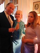Ed Victor, Sally Greene and Sally Greene's daughterparty hosted by Sally Greene for Michael Bloomberg Chelsea. London 2000. © Copyright Photograph by Dafydd Jones 66 Stockwell Park Rd. London SW9 0DA Tel 020 7733 0108 www.dafjones.com