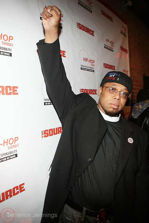 """Rev. Yearwood at The Russell Simmons and Spike Lee  co-hosted """"I AM C.H.A.N.G.E!"""" Get out the Vote Party presented by The Source Magazine and The HipHop Summit Action Network held at Home on October 30, 2008 in New York City"""