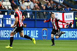John Fleck of Sheffield United celebrates after scoring his sides first goal  - Mandatory by-line:  Matt McNulty/JMP - 24/09/2017 - FOOTBALL - Hillsborough - Sheffield, England - Sheffield Wednesday v Sheffield United - Sky Bet Championship