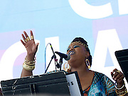Dawn Tallman performs as SummerStage presents Club Classics Live at Rumsey Playfield in Central Park in New York City, New York on June 28, 2014.