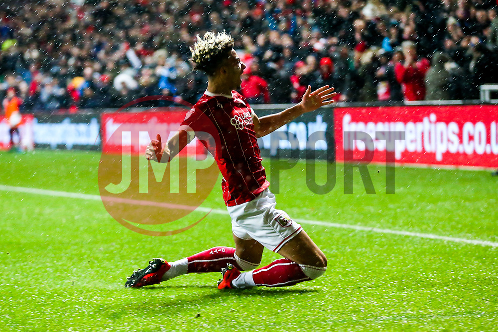 Lloyd Kelly of Bristol City celebrates scoring a goal to make it 2-0 - Rogan/JMP - 26/12/2017 - Ashton Gate Stadium - Bristol, England - Bristol City v Reading - Sky Bet Championship.