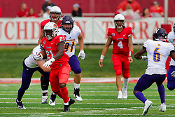 NORMAL, IL - October 06: Markel Smith during a college football game between the ISU (Illinois State University) Redbirds and the Western Illinois Leathernecks on October 06 2018 at Hancock Stadium in Normal, IL. (Photo by Alan Look)