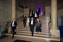 CARDIFF, WALES - Wednesday, August 31, 2016: Guests arrive for a gala dinner at the Cardiff Museum to launch the UEFA Champions League Finals 2017 to be held in Cardiff. (Pic by David Rawcliffe/Propaganda)