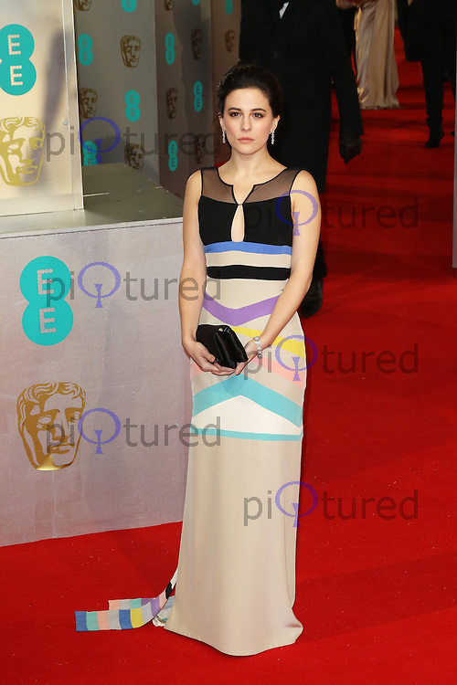 Phoebe Fox, EE British Academy Film Awards (BAFTAs), Royal Opera House Covent Garden, London UK, 08 February 2015, Photo by Richard Goldschmidt