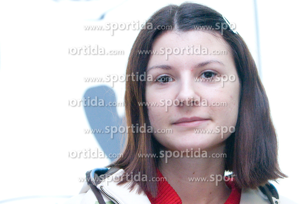 Ana Srebrnic at  press conference of Slovenian Chess Federation before 38th Chess Olympiad 2008 in Dresden, Germany, on November 11, 2008, in Ljubljana, Slovenia. (Photo by Vid Ponikvar / Sportida)