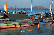 Fishing boats, Papagaran island, Komodo National Park