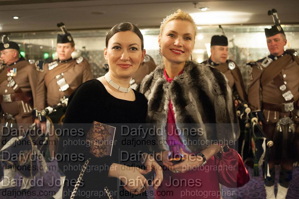 TATIANA PYATIGORSKAYA; MARINIKA SMIRONOVA, The Royal Caledonian Ball 2013. The Great Room, Grosvenor House. Park lane. London. 3 May 2013.