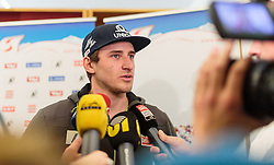 30.12.2015, Sanatorium Kettenbrücke, Innsbruck, AUT, OeSV Pressekonferenz, Matthias Mayer, im Bild Matthias Mayer (AUT) // Matthias Mayer of Austria during a Pressconference of the Austrian Ski Alpine Athlete Matthias Mayer about his Health Status after his Crash in Groeden at the , Innsbruck, Austria on 2015/12/30. EXPA Pictures © 2015, PhotoCredit: EXPA/ JFK