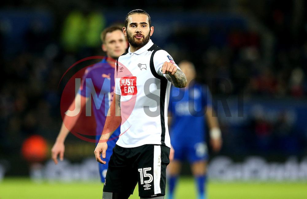 Bradley Johnson of Derby County - Mandatory by-line: Robbie Stephenson/JMP - 08/02/2017 - FOOTBALL - King Power Stadium - Leicester, England - Leicester City v Derby County - Emirates FA Cup fourth round replay