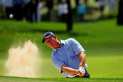 06MARCH2005.Ernie Els of South Africa winner of  the Dubai Desert Classic 2005 plays a shot at the Emirates Golf Club.