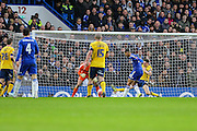 Chelsea's Ruben Loftus-Cheek scores his teams 2nd goal during the The FA Cup third round match between Chelsea and Scunthorpe United at Stamford Bridge, London, England on 10 January 2016. Photo by Shane Healey.