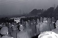 Police at Rossington 2 October 1984