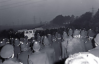 Police at Rossington 2 October 1984