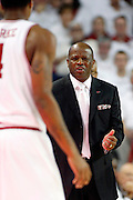 FAYETTEVILLE, AR - NOVEMBER 30:  Head Coach Mike Anderson of the Arkansas Razorbacks during a game against the Syracuse Orangemen at Bud Walton Arena on November 30, 2012 in Fayetteville, Arkansas.  The Orangemen defeated the Razorbacks 91-82.  (Photo by Wesley Hitt/Getty Images) *** Local Caption *** Mike Anderson