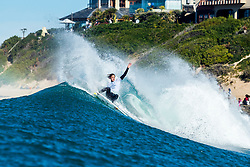 Jordy Smith (ZAF) advances to the Quarterfinals of the 2018 Corona Open J-Bay after placing second in Heat 1 of Round 4 at Supertubes, Jeffreys Bay, South Africa.