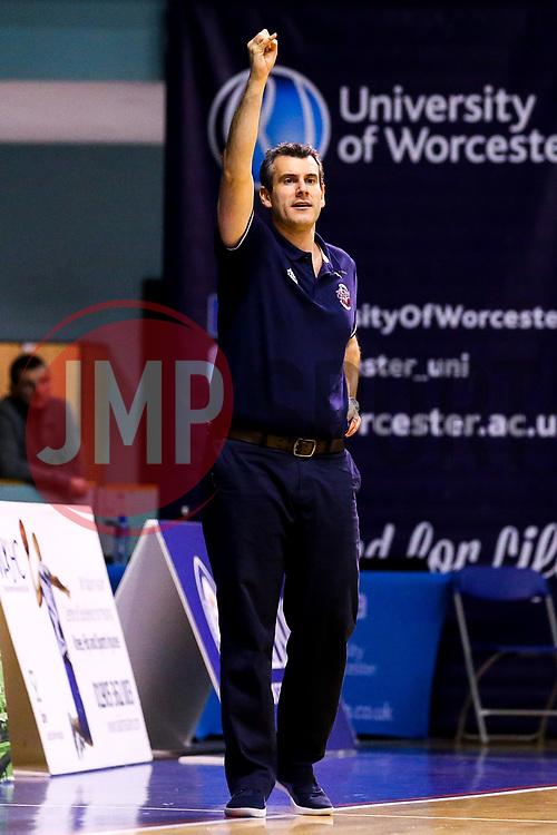 Bristol Flyers head coach, Andreas Kapoulas - Mandatory by-line: Robbie Stephenson/JMP - 05/10/2018 - BASKETBALL - University of Worcester Arena - Worcester, England - Bristol Flyers v Worcester Wolves - British Basketball League