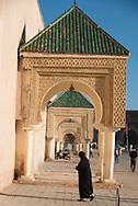 Morocco. Meknes, Place El Hedim street life