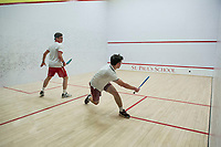 St Paul's School varsity squash with Groton.  ©2018 Karen Bobotas Photographer