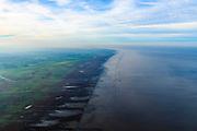 Nederland, Friesland, Het Bildt, gemeente Waadhoeke, 04-11-2018; Noord-Friesland Buitendijks, kweldergebied Noorderleeg. Waddenkust en landaanwinning ter hoogte van Ferwert.<br /> Fries: Noarderleech , onderdeel van Noard-Frysl&acirc;n B&ucirc;tendyks.<br /> Frisian coast, salt marsh and mudflat area with land reclamation.<br /> luchtfoto (toeslag op standaard tarieven);<br /> aerial photo (additional fee required);<br /> copyright &copy; foto/photo Siebe Swart