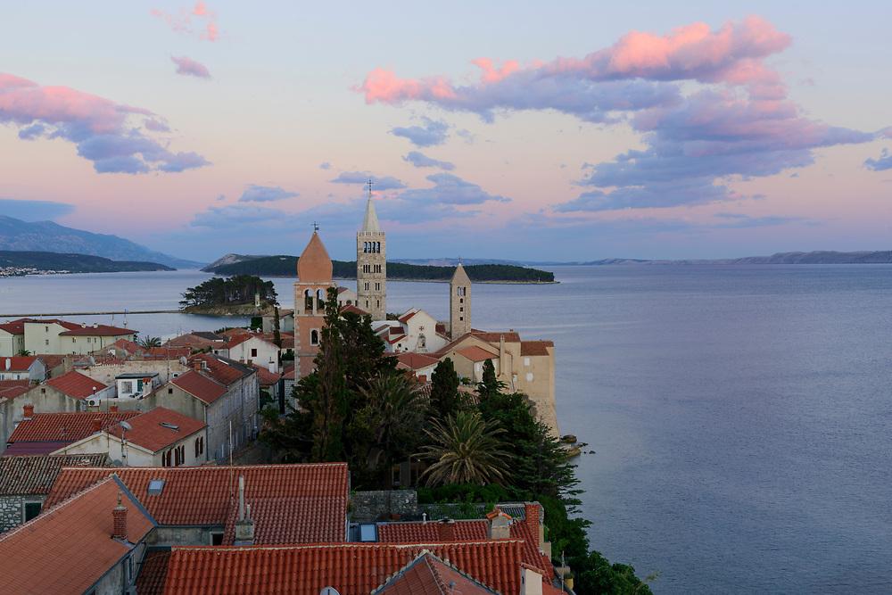 Europe, Balkan, Croatia, view over the ancient city of Rab