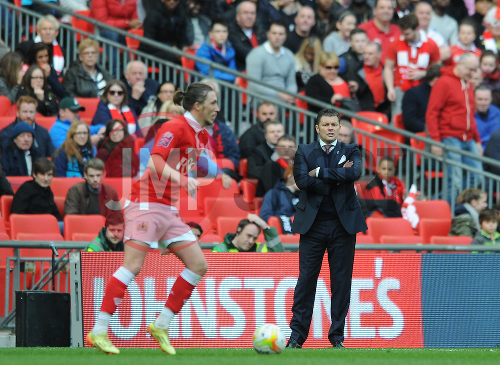 Bristol City manager, Steve Cotterill - Photo mandatory by-line: Dougie Allward/JMP - Mobile: 07966 386802 - 22/03/2015 - SPORT - Football - London - Wembley Stadium - Bristol City v Walsall - Johnstone Paint Trophy Final