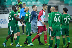 Olimpija players during football match between NK Olimpija Ljubljana and NK Aluminij in semi final of Slovenian Cup 2018/19, on April 23, 2019 in Stozice Stadium, Ljubljana, Slovenia. Photo by Morgan Kristan