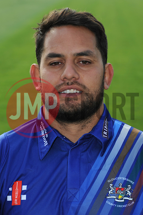 Gloucestershire player, Kieran Noema-Barnett - Photo mandatory by-line: Dougie Allward/JMP - 07966 386802 - 10/04/2015 - SPORT - CRICKET - Bristol, England - Bristol County Ground - Gloucestershire County Cricket Club Photocall.