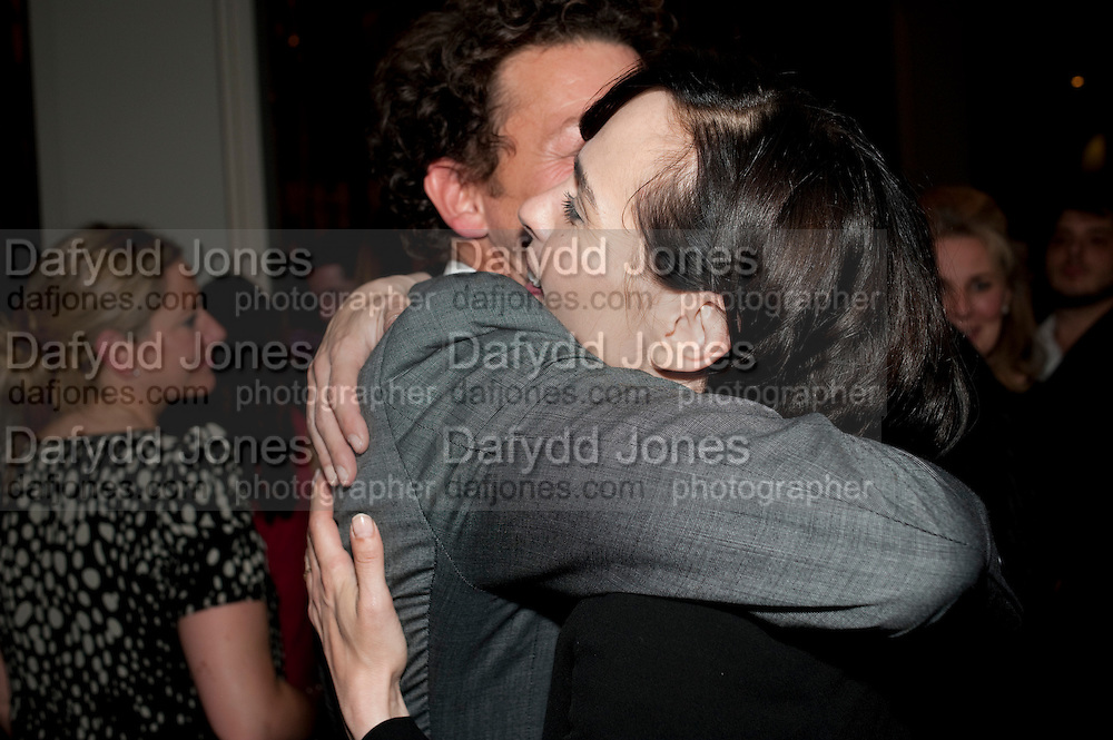 RICHARD COYLE;TARA FITZGERALD, The opening night of Broken Glass at the Vaudeville Theatre. Followed by  the after show party is at One Aldwych. London. 16 September 2011. <br />  , -DO NOT ARCHIVE-© Copyright Photograph by Dafydd Jones. 248 Clapham Rd. London SW9 0PZ. Tel 0207 820 0771. www.dafjones.com.