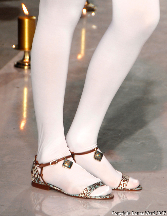 Model wears Paola Cavalli Shoes at Funkshion Fashion Week Fall/Winter 2007