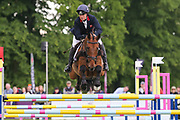 Billy Walk On ridden by Pippa Funnell in the Equi-Trek CCI-4* Show Jumping during the Bramham International Horse Trials 2019 at Bramham Park, Bramham, United Kingdom on 9 June 2019.