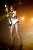 noisettes performinng live at o2 academy in Sheffield on the first leg of there 2010 uk tour